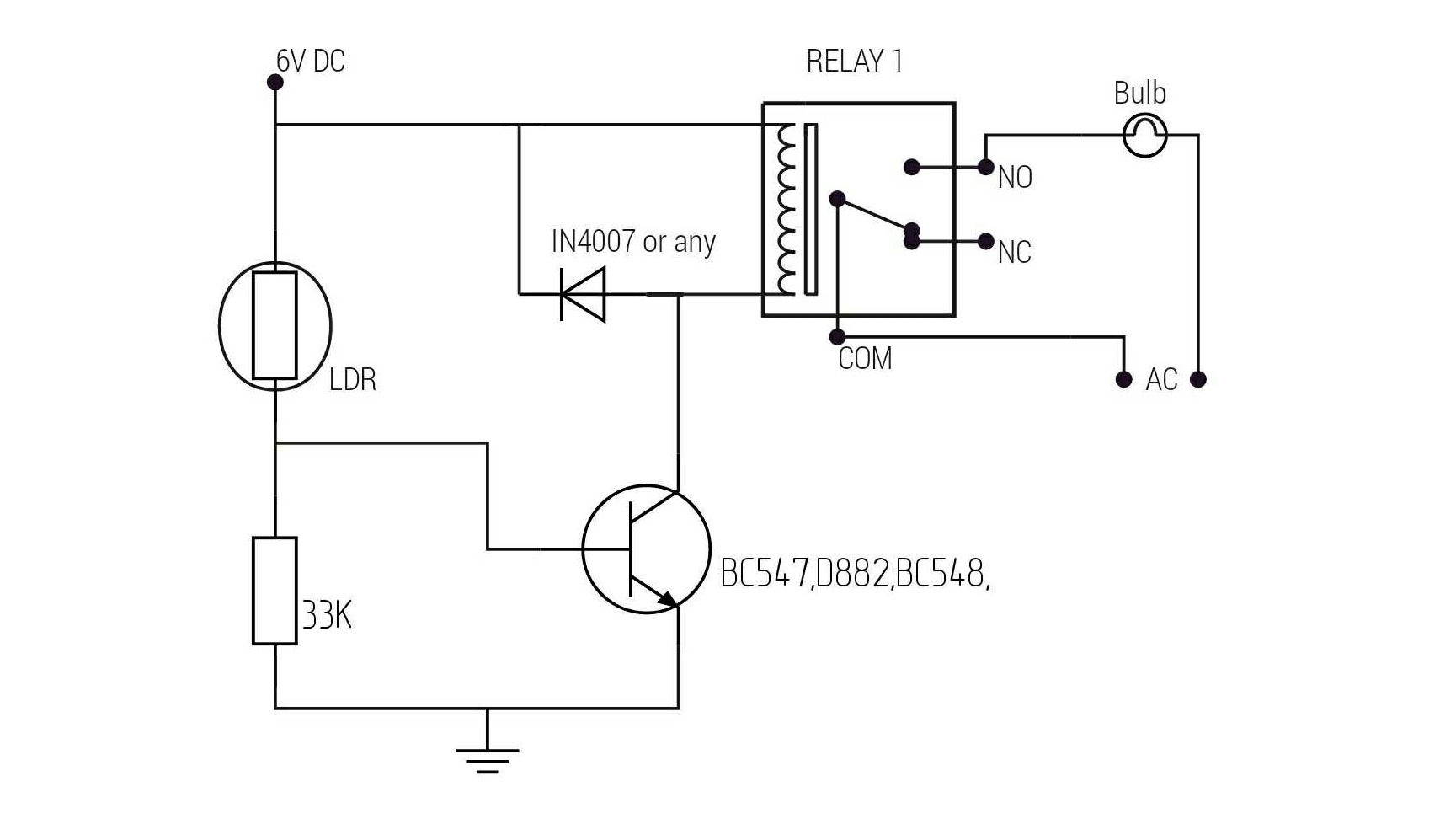 Automatic light with ldr circuit diagram. – WELCOME